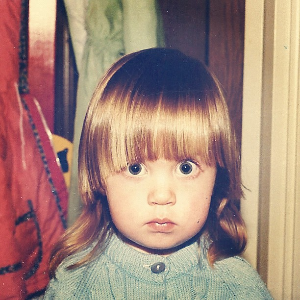 close up little toddler girl 70s instagram