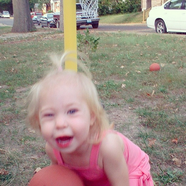 toddler girl playing basket ball instagram