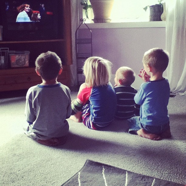 kids watching a movie instagram