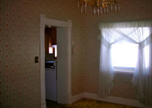 dining room before wallpaper
