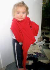 child dressing