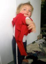 boy dressing