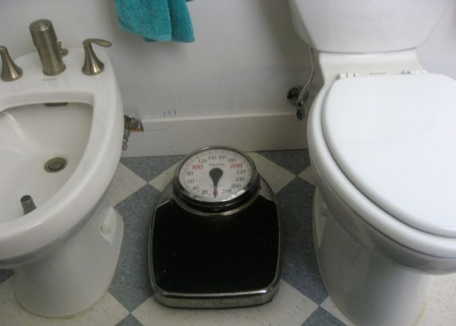 bidet toilet antique scale