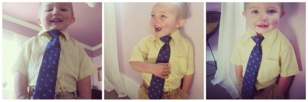 toddler boy in tie instagram