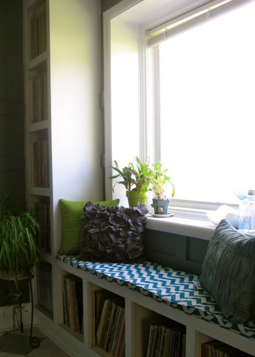 ruffle throw pillows window seat