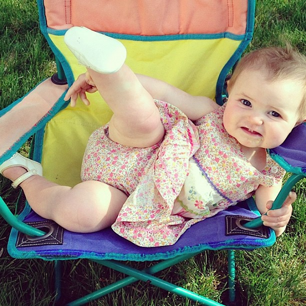 baby girl sitting in camp chair instagram