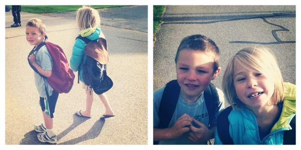 brother sister walk to school instagram