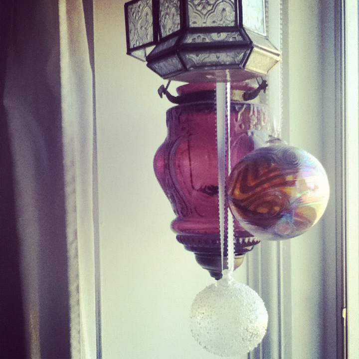 glass lanterns window purple gold instagram