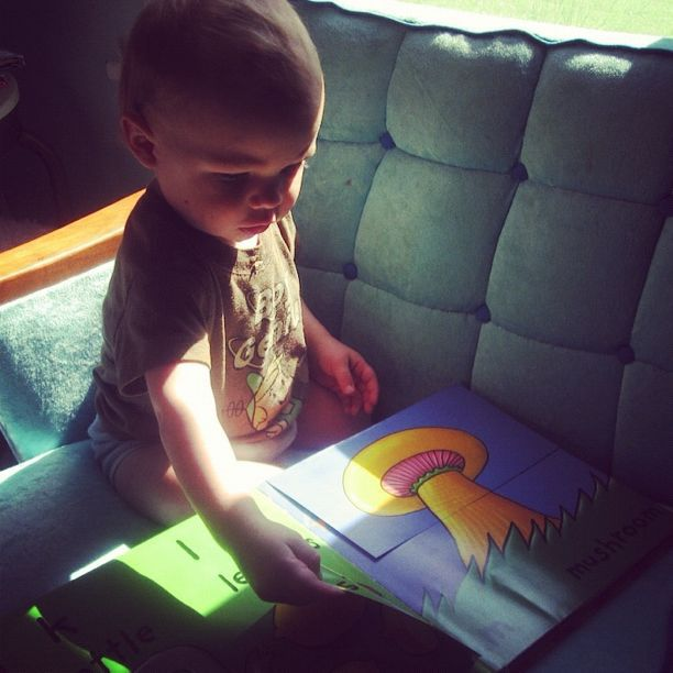 baby boy reading book instagram