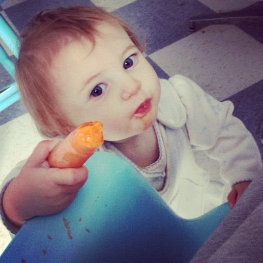 baby with carrot instagram