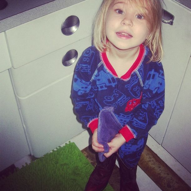 little girl in pajamas and cowboy boots instagram