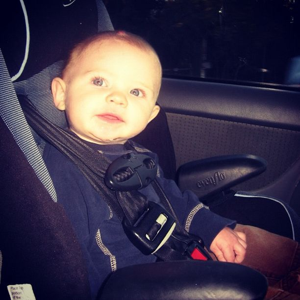 baby boy carseat instagram
