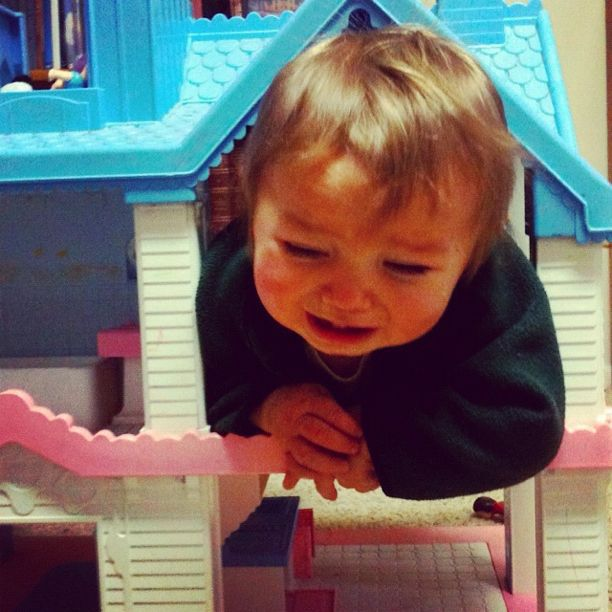 baby boy stuck in dollhouse instagram