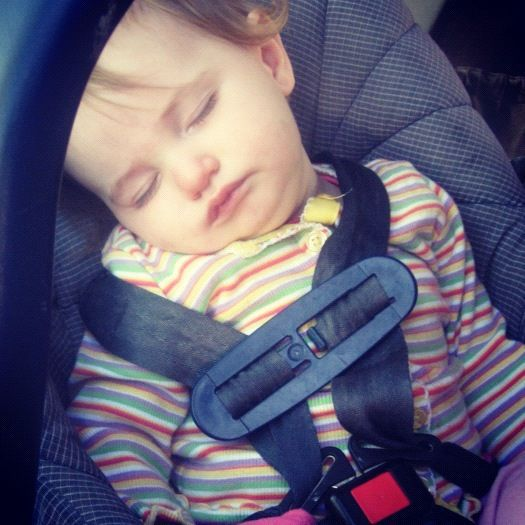 baby girl sleeping in car seat instagram