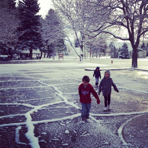winter icy snowy kids instagram