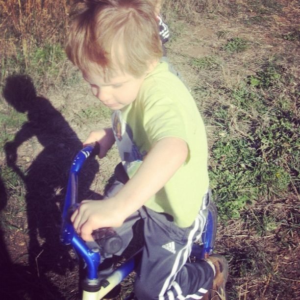 little boy mountain bike pasture instagram