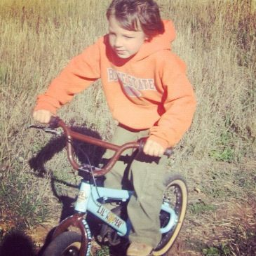 little boy mountain bike pasture instagram fall