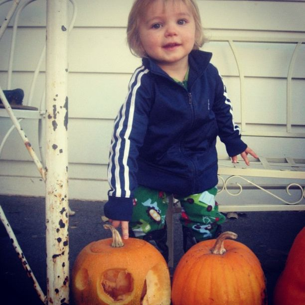 little boy jack-o-lantern instagram