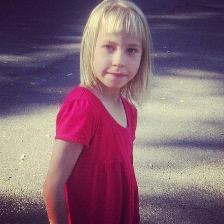 little girl red dress instagram