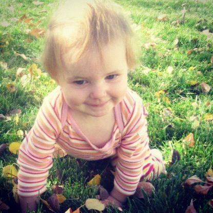 baby girl crawling smiling instagram