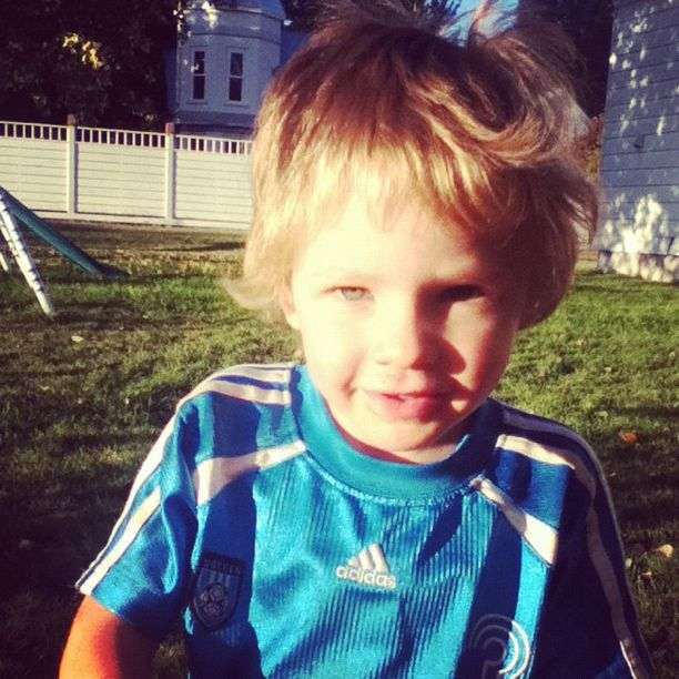 little blond boy blue shirt instagram