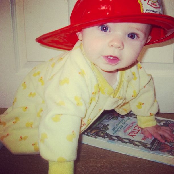 baby boy fire hat instagram