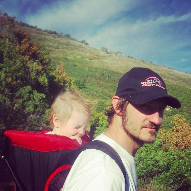 dad baby girl hike instagram