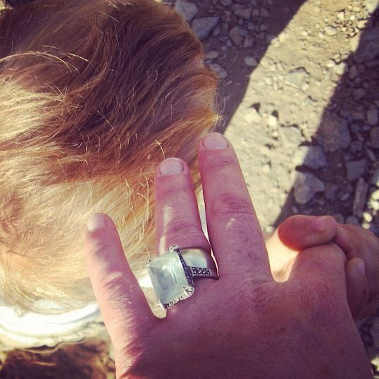 holding toddler hand wedding ring instagram