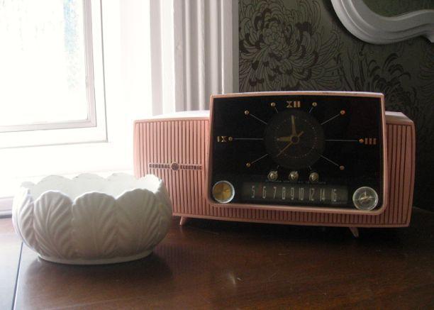 retro vintage clock white ceramic bowl