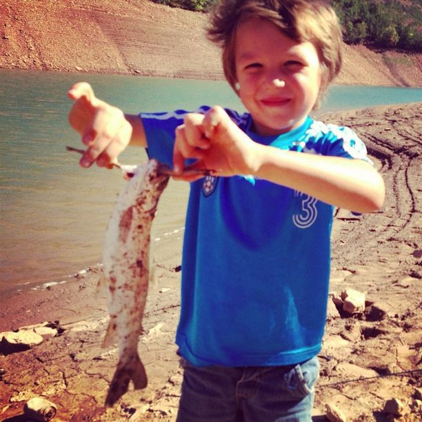little boy first fish instagram