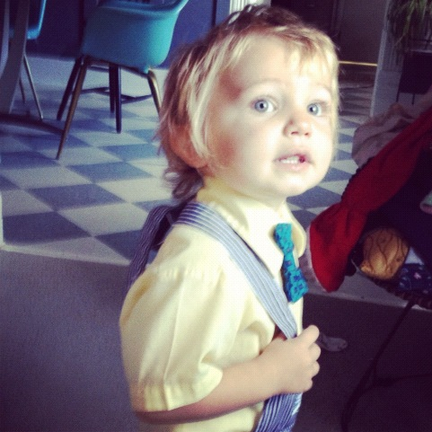 little boy overalls bow tie instagram