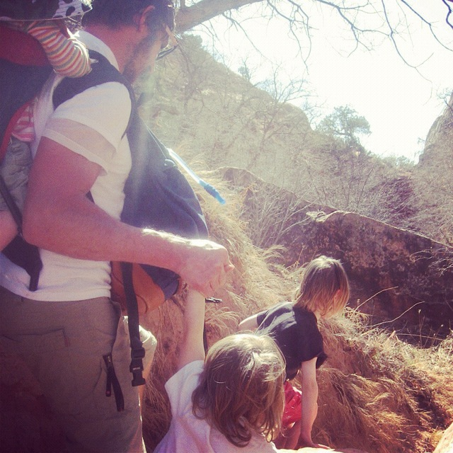 family hiking moab negro bill canyon instagram