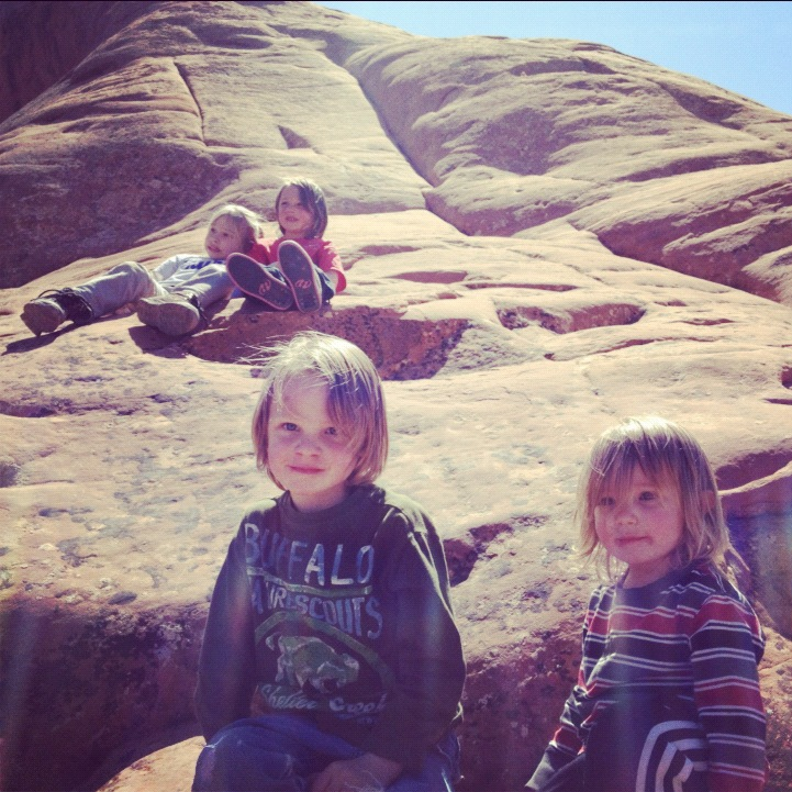 kids hiking arches national park moab instagram