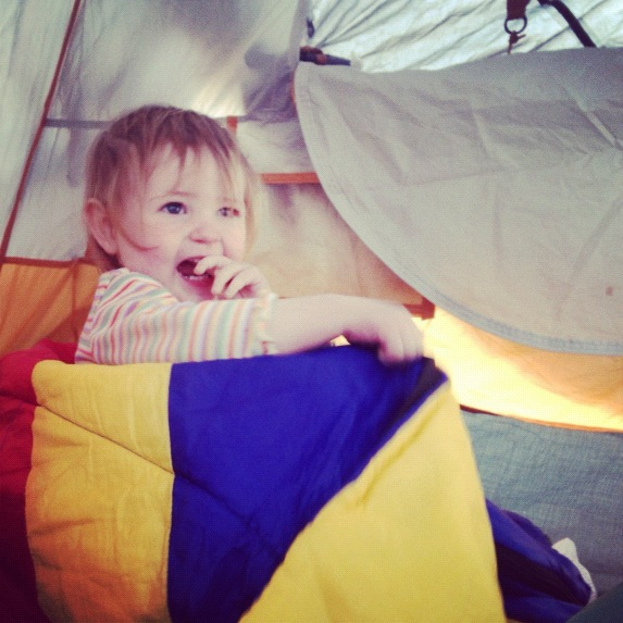 baby girl in tent arches national park moab willow creek trail instagram