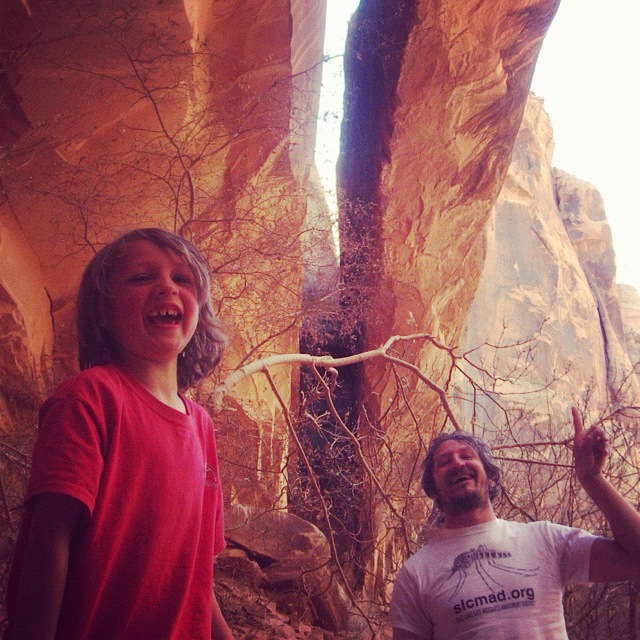 father and son moab negro bill canyon instagram