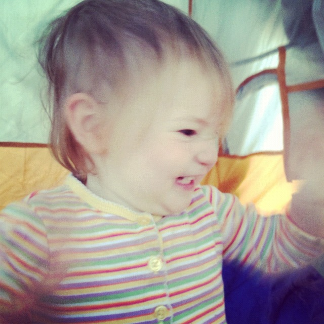 baby girl in tent arches national park moab instagram