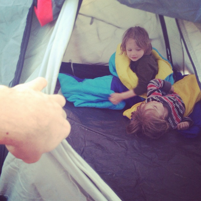 little boys in tent arches national park moab willow creek trail instagram