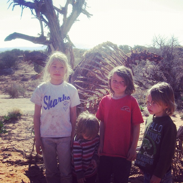 kids elk carcass arches national park moab willow creek trail instagram