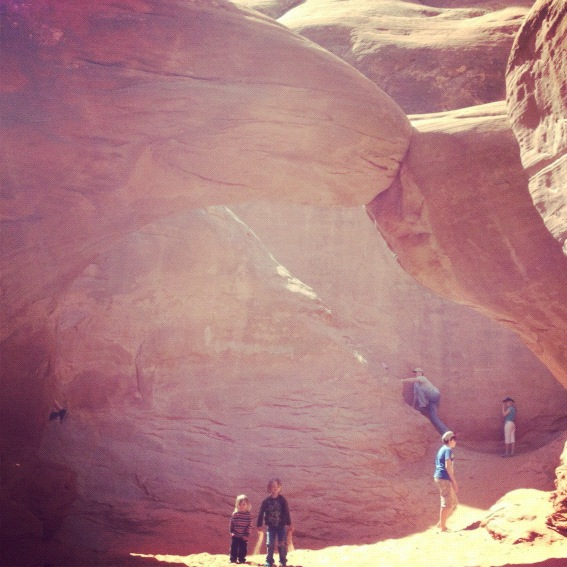 little boys arches national park moab sand dune arch instagram