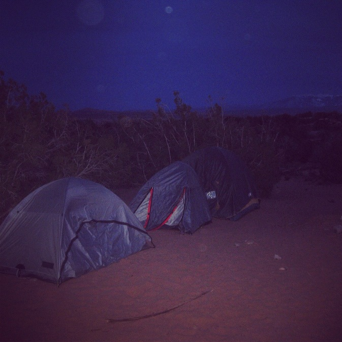 tents arches national park moab willow creek trail instagram