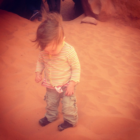 little girl arches national park moab sand dune arch instagram