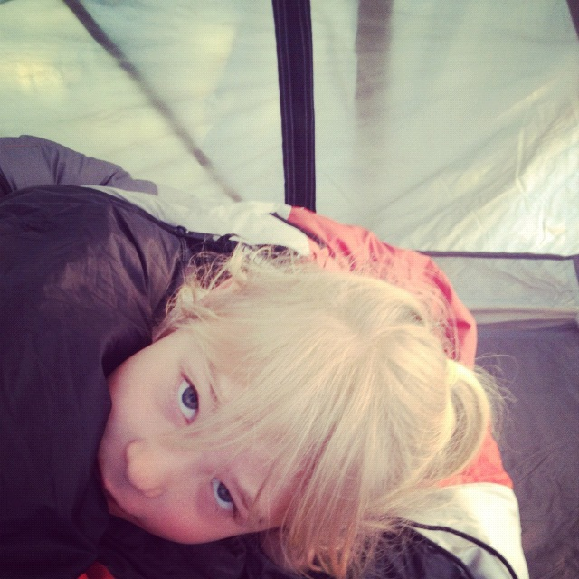 little girl in tent arches national park moab willow creek trail instagram