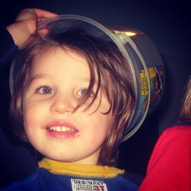 little boy bucket on head instagram