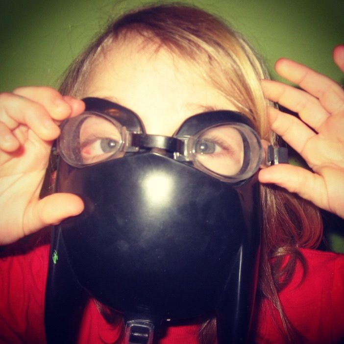 little girl goggles instagram