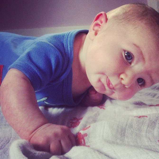 baby boy tummy time instagram