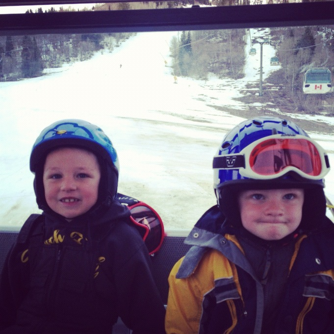 little boys brothers ski lift instagram