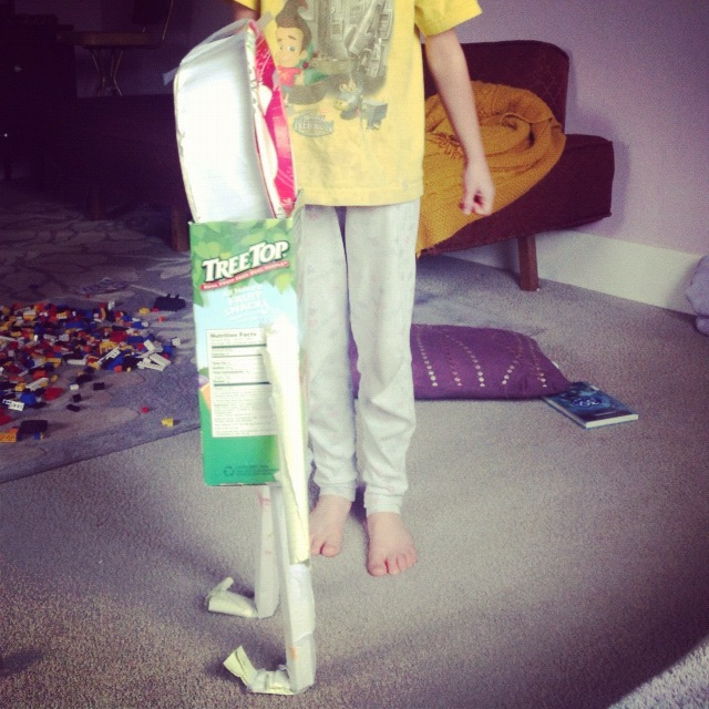 little girl cardboard robot instagram
