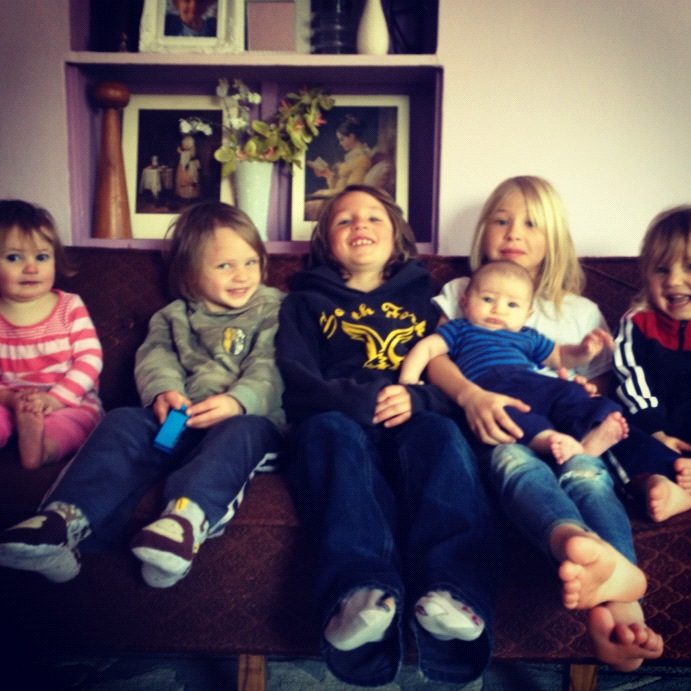 six kids big family instagram