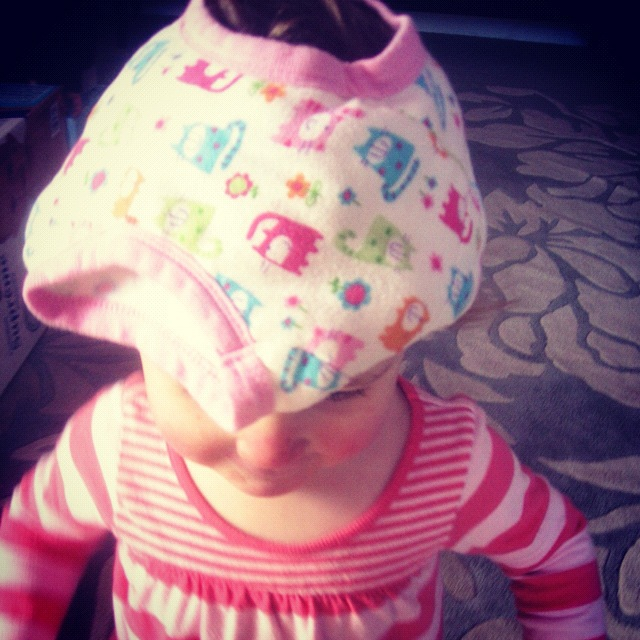baby girl underwear on head instagram
