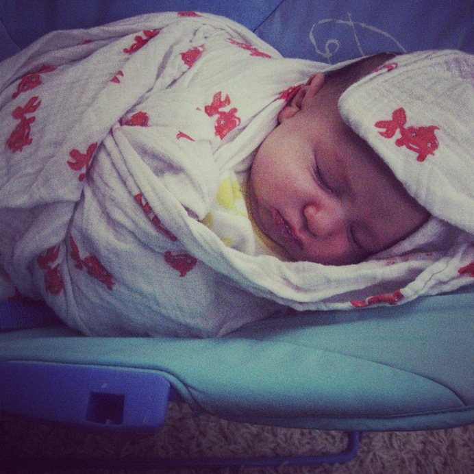 newborn sleeping instagram
